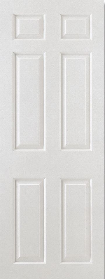 White Moulded Smooth Square Top Fire Door (6P)